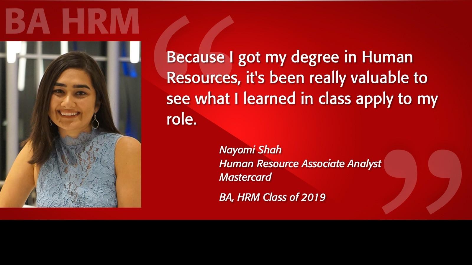 Image of Naomi Shah Alumni Testimonial