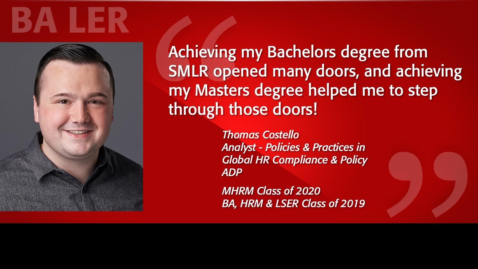 Tom Costello Alumni Testimonial