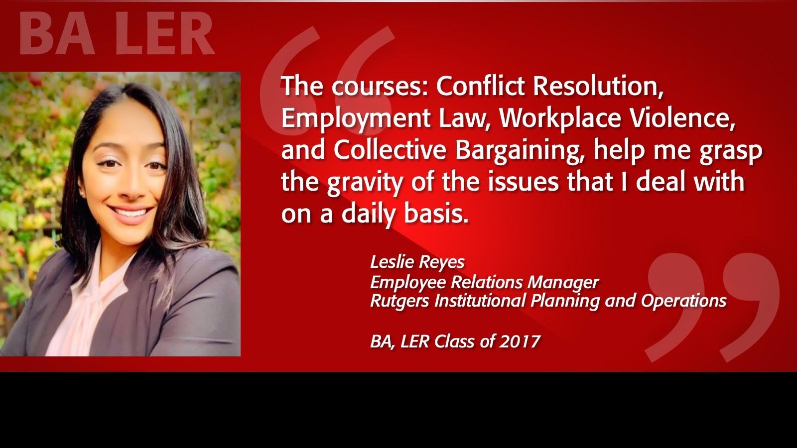 Leslie Reyes Alumni Testimonial