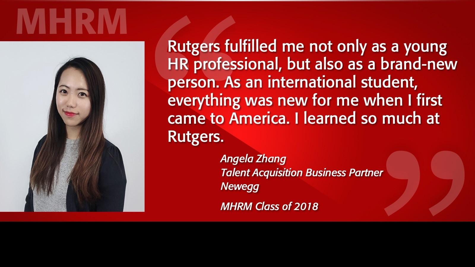 Image of Angela Zhang Alumni Testimonial