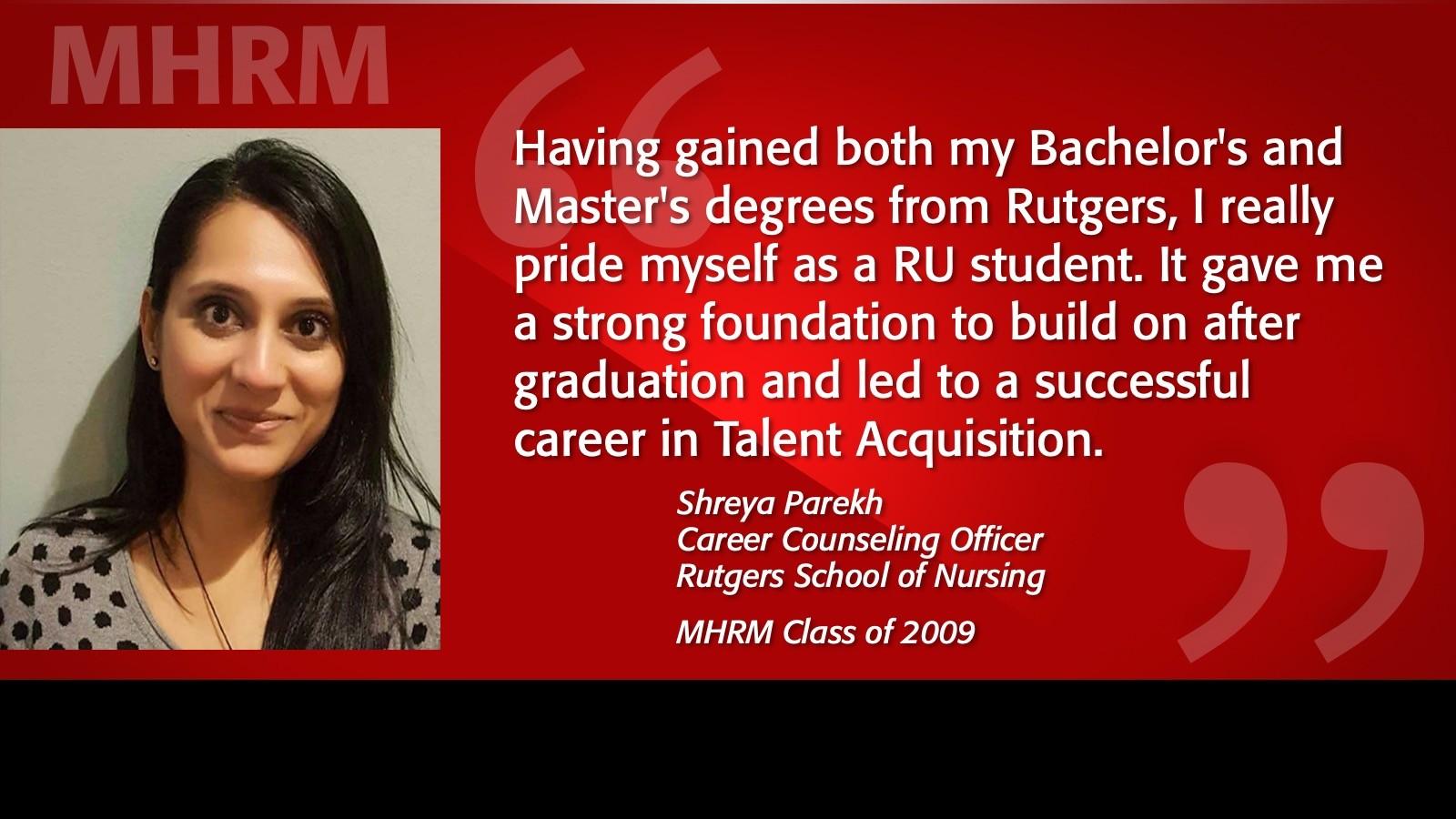 Image of Shreya Parekh MHRM Testimonial