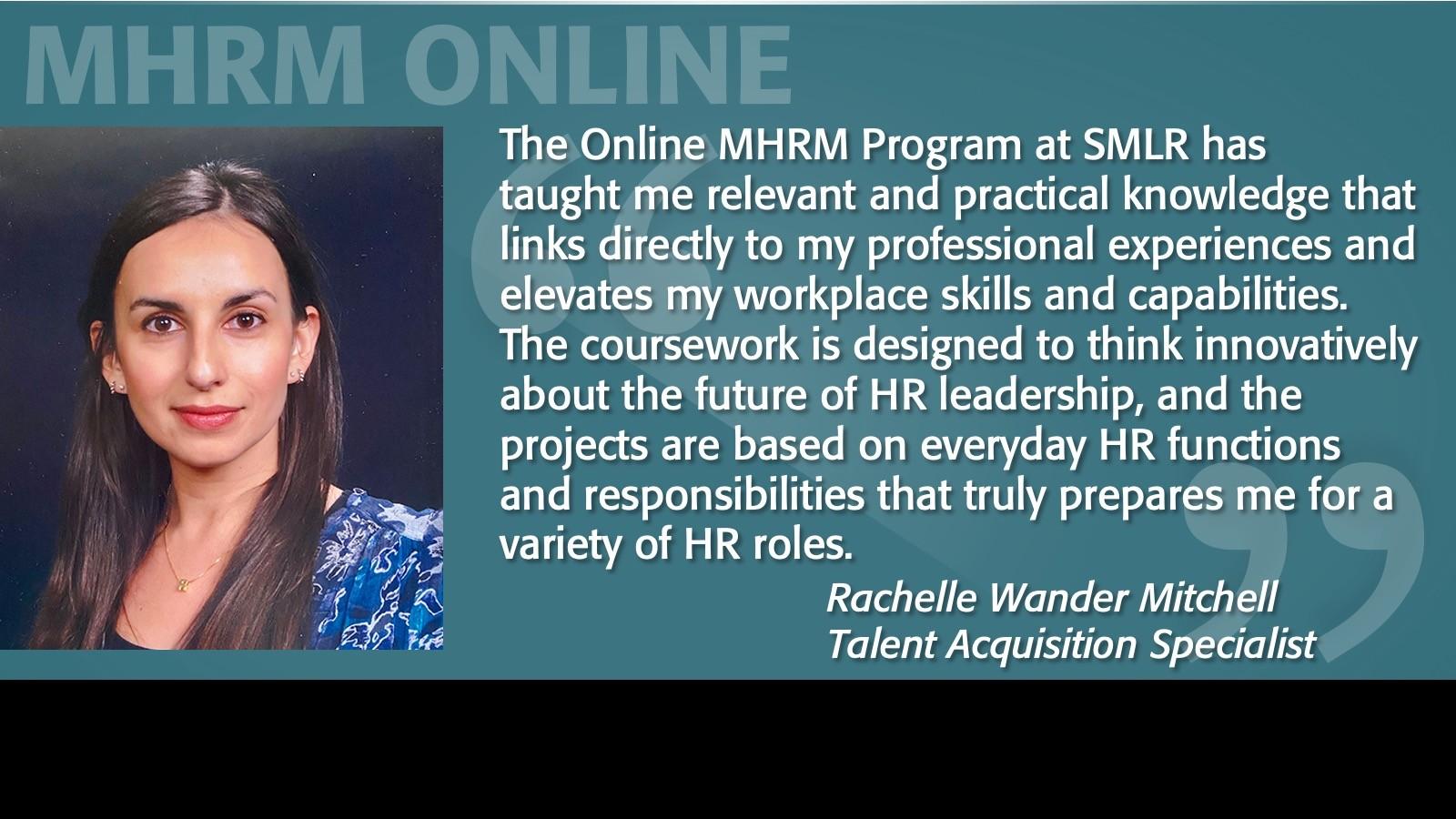Image of Rachelle Mitchell Testimonial MHRM Online Program