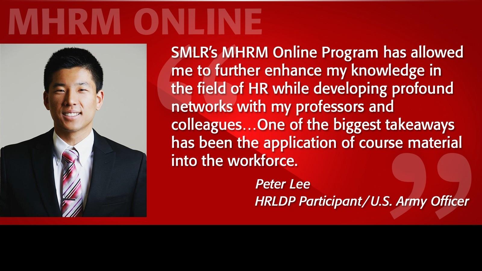 Image of Peter Lee Testimonial MHRM Online