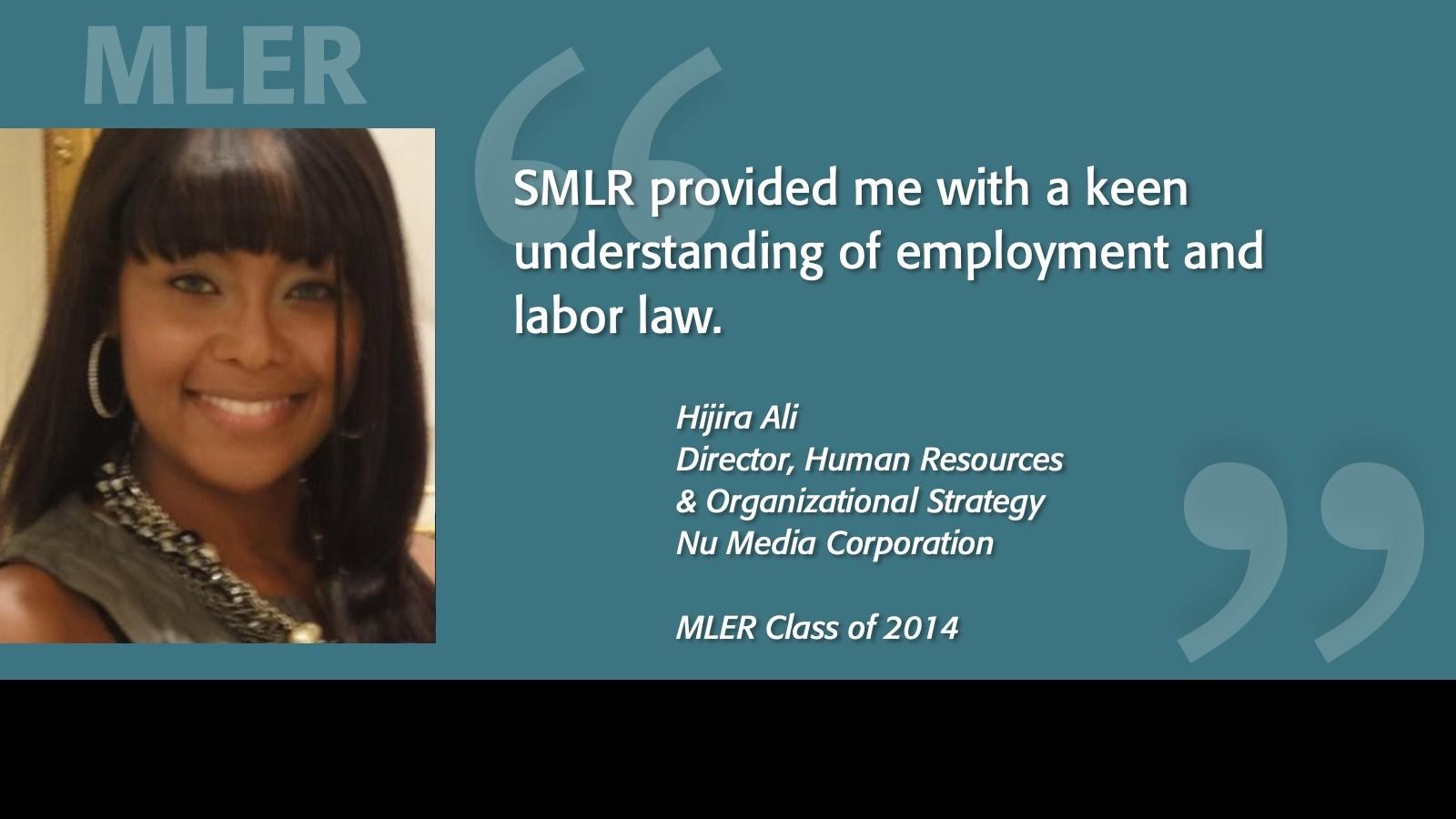 Image of MLER Alumni Testimonial Hijira Ali