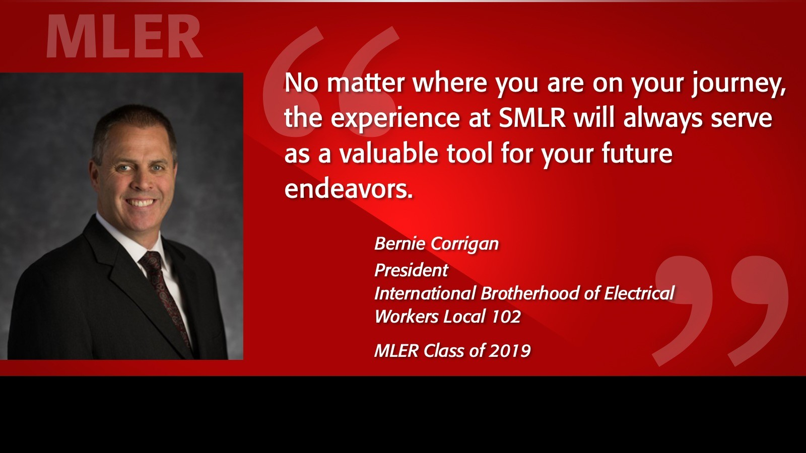 Image of Bernie Corrigan Alumni Testimonial