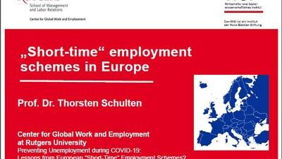 Short-time employment schemes in Europe