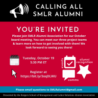 Image of flyer for SMLRAA Board Meeting on 10/19