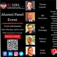 Image of RU LERA Alumni Panel Event on 4/22/21
