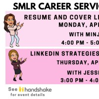 Image of Career Services Webinar Schedule for 4/15