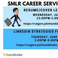 Image of Career Services webinars June 16 and June 17