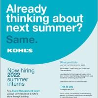 Image of Kohl's Internship Info Session on 9/14/21