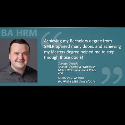 BA HRM Alumni Spotlight - Tom Costello