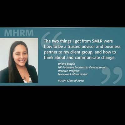 Image of Briana Bergin MHRM Testimonial