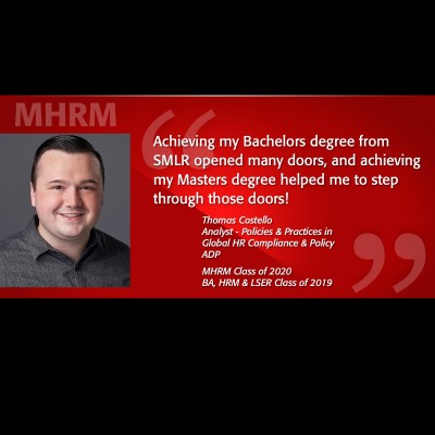 Image of Tom Costello MHRM Alumni Testimonial