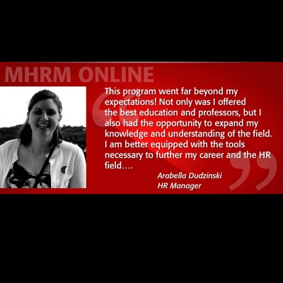 Image of Arabella Dudzinski Testimonial MHRM Online Program
