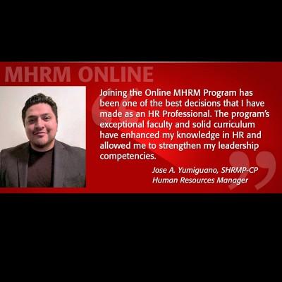 Image of Jose Yumiguano Testimonial MHRM Online